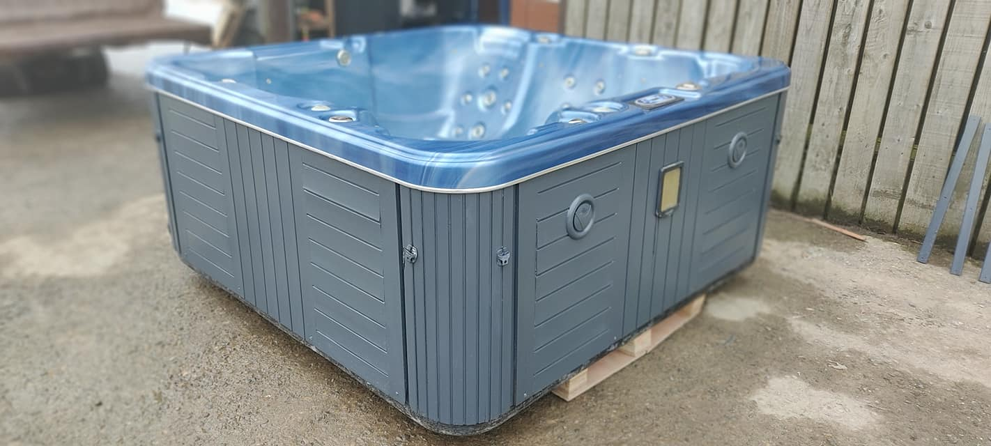 2 used hot tubs that have had final touches completed