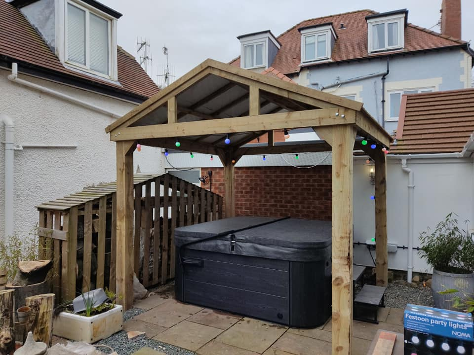 Today was mostly about building a fabulous Gazebo for Brendan