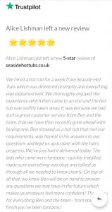 5 Star TrustPilot Review - Hot Tubs for Sale